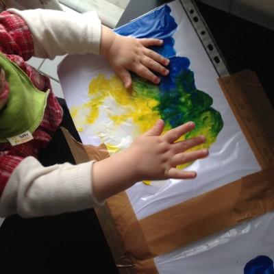 peinture sous plastique