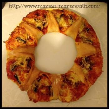 pizza couronne chorizo champignons