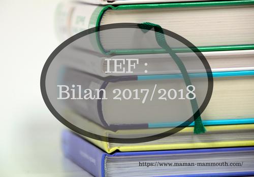 Bilan IEF 2017/2018