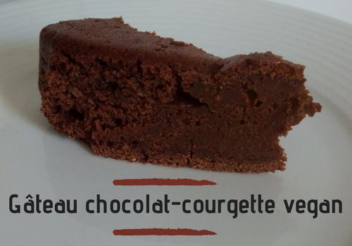 Gâteau chocolat-courgette vegan