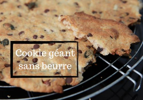 Cookie géant sans beurre, chocolat, noix et graines