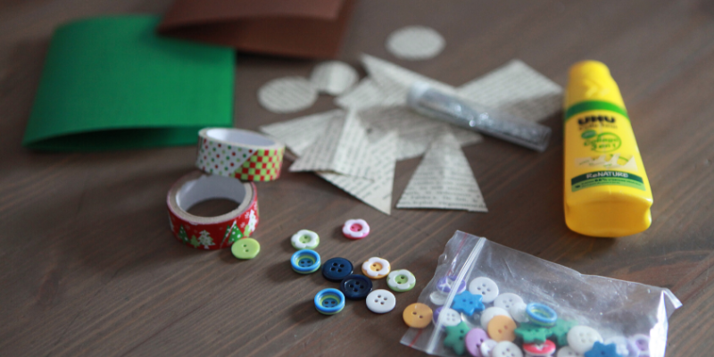 DIY cartes de noël enfant