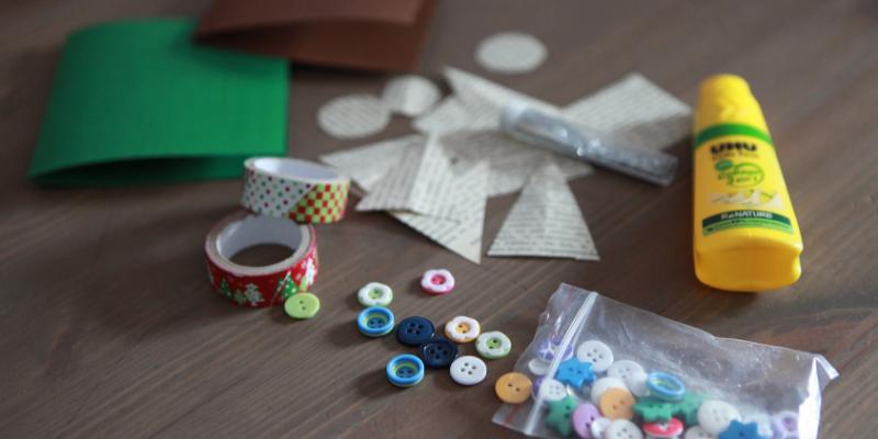 DIY cartes de noël enfant