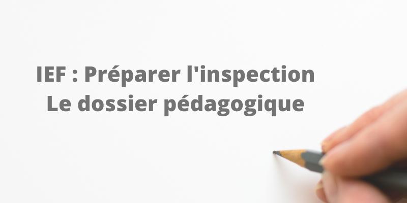 IEF : Dossier pédagogique