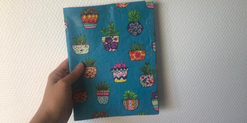 Tuto protège cahier en tissu