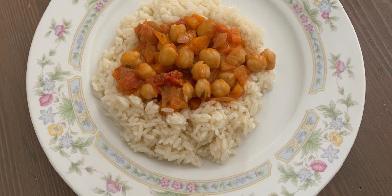curry de pois chiches et carottes au lait de coco